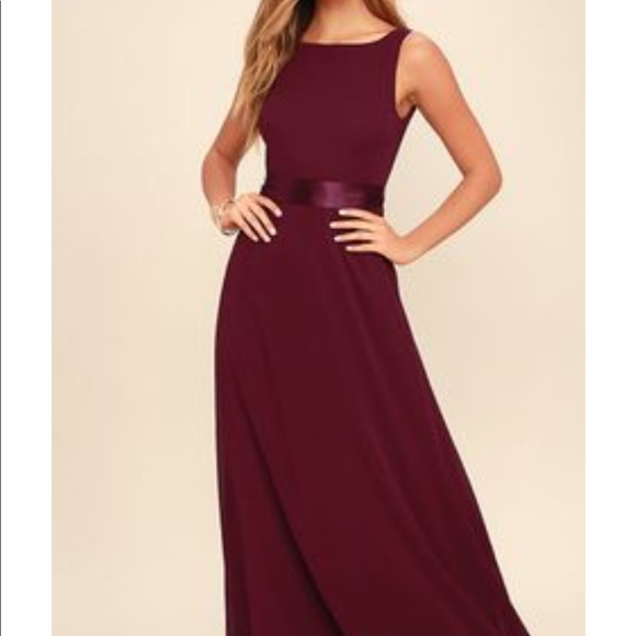 580161c44c51 Lulu s Dresses   Skirts - Red wine bridesmaid semi formal dress